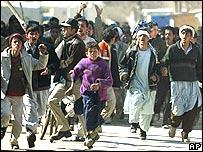 Protestas en Kabul, Afganistán.