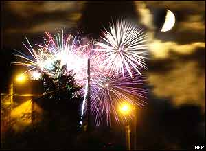 Fireworks in Givors, France