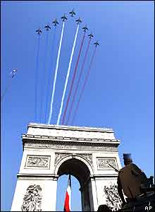 Jets over Arc de Triomphe in Paris