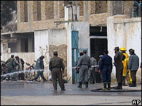 The site of an explosion in Kandahar