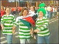 TNS fans on their way to Wednesday's match