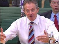 Tony Blair gives evidence to MPs
