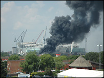 Wembley fire: Picture sent in by Carl Davey