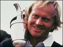 Jack Nicklaus with the Claret Jug in 1978