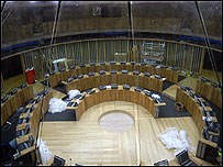 The Senedd's debating chamber