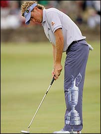 Ian Poulter in action at St Andrews