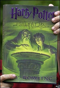 A copy of Harry Potter and the Half-Blood Prince