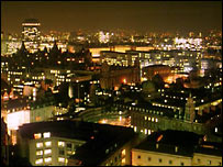 London night-time skyline