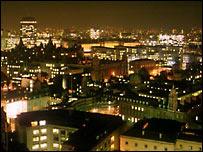 London night-time skyline