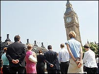 Silence observed in Parliament Square, London