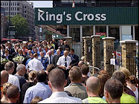 Silence marked at King's Cross