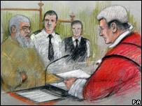 Mr Justice Hughes sentencing Abu Hamza