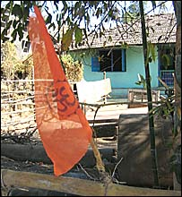 Hindu houses in Dangs marked by saffron flags