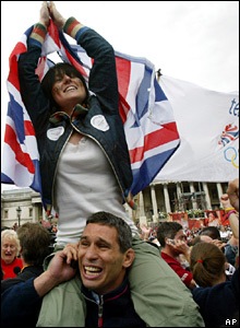 Olympic bid success celebrations