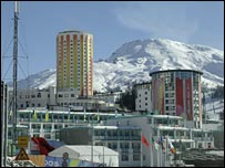The Olympic village in Sestriere