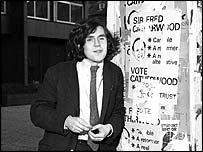 Gordon Brown in his student days.