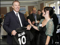 Tony Blair in North Shields