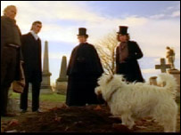A scene from the new Greyfriars Bobby film