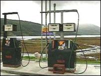 Petrol pumps Western Isles