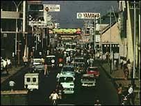 Street scene in Bandung, Indonesia