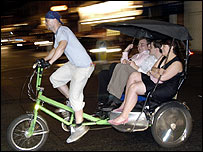 Rickshaw in London's Soho