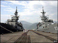 Two Taiwan Navy Knox-class frigates, June 21,2005.