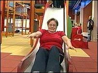 Mormor i rutschbanan