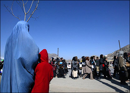 Afghan women march in Kabul