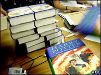 Copies of the latest Harry Potter book