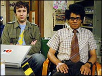 Chris O'Dowd and Richard Ayoade in The IT Crowd