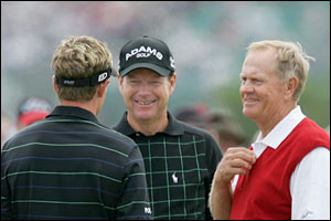 Luke Donald, Tom Watson and Jack Nicklaus