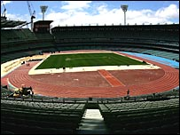Track and field facilities at the Melbourne Cricket Ground