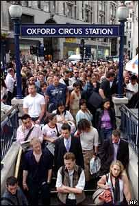 Oxford Circus during a Tube strike