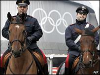 Italian police in Turin