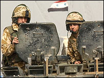 British soldiers in Basra