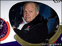 Steve Fossett makes final preparations before take-off from Cape Canaveral. Image: Getty Images
