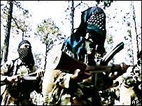 Still from footage allegedly showing an al-Qaeda camp