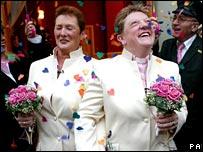 Lesbian civil partnership