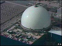 Planta nuclear de Sizewell en el Reino Unido.