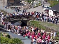 Boscastle: Residents celebrate the village's recovery