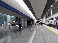 Artists impression of the new Thameslink station. Picture from London & Continental Railways