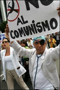 Doctors in Venezuela protest in Caracas