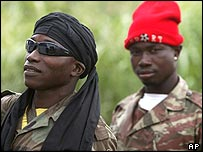 A pair of Ivorian rebels
