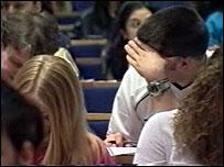 lecture room scene