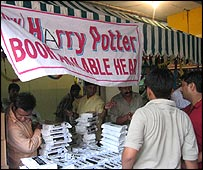 Harry Potter book stall in Delhi