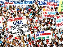Arroyo supporters during Saturday's rally