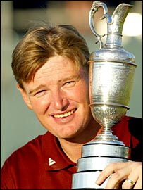 Ernie Els won the Open in 2002