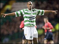 Dion Dublin at Celtic Park