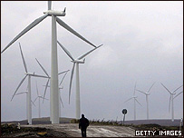 Molinos de viento en Escocia.