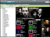 Napster's UK service